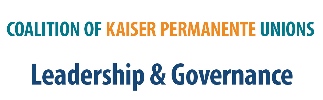 Leadership - Coalition of Kaiser Permanente Unions