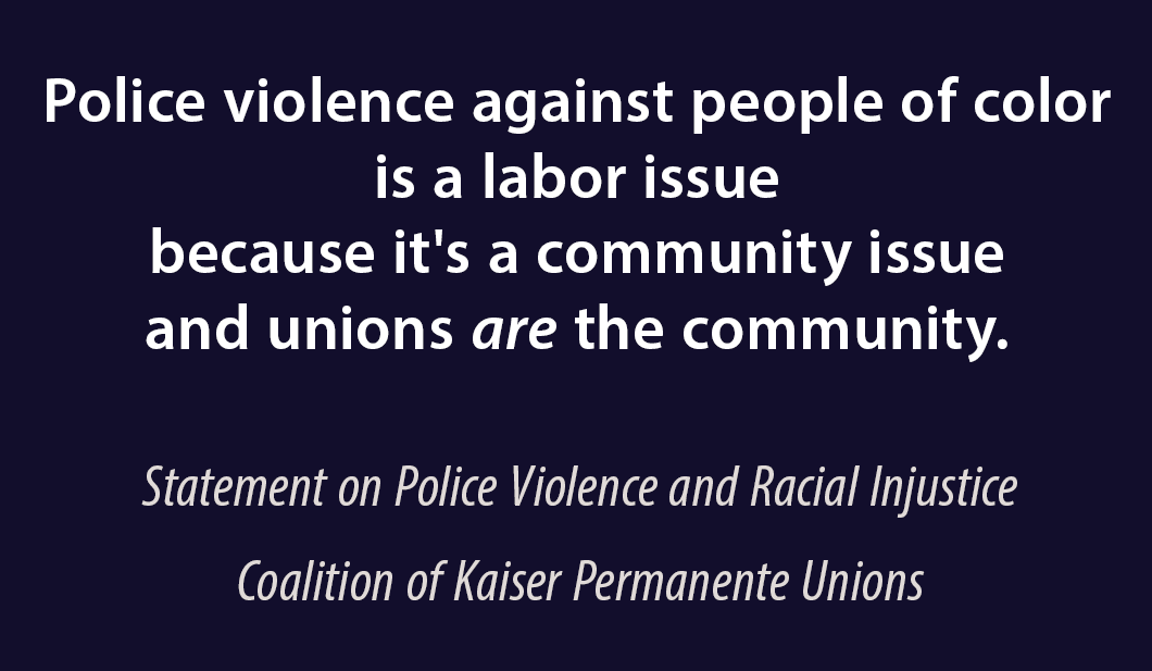 """Police violence against people of color is a labor issue"""